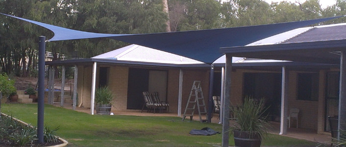 Shade sails over outdorr living area image